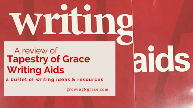 tapestry of grace writing aids review