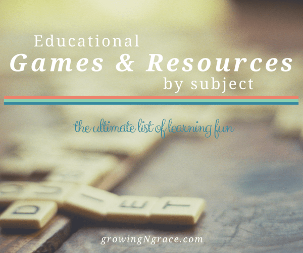 Educational Games and Resources by subject | Growing In Grace