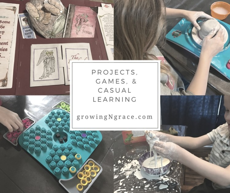 homeschooling on hard days | projects, games, & casual learning