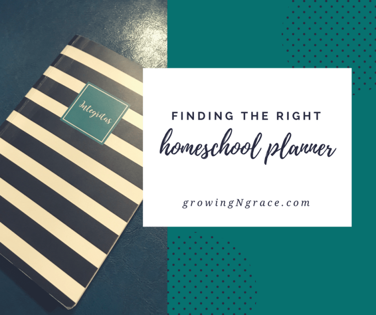 finding the right homeschool planner | planning tips