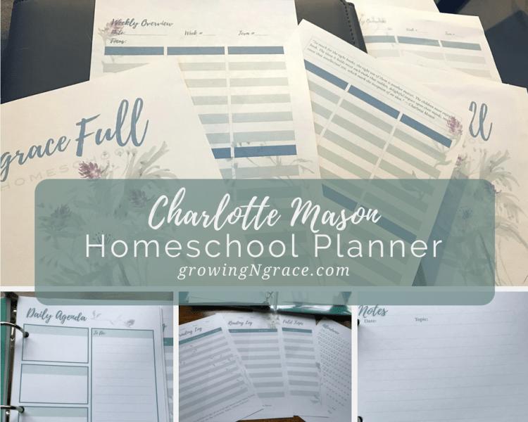 Printable A5 Homeschool Planner | Charlotte Mason