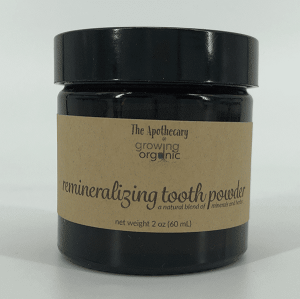 remineralizing tooth powder label