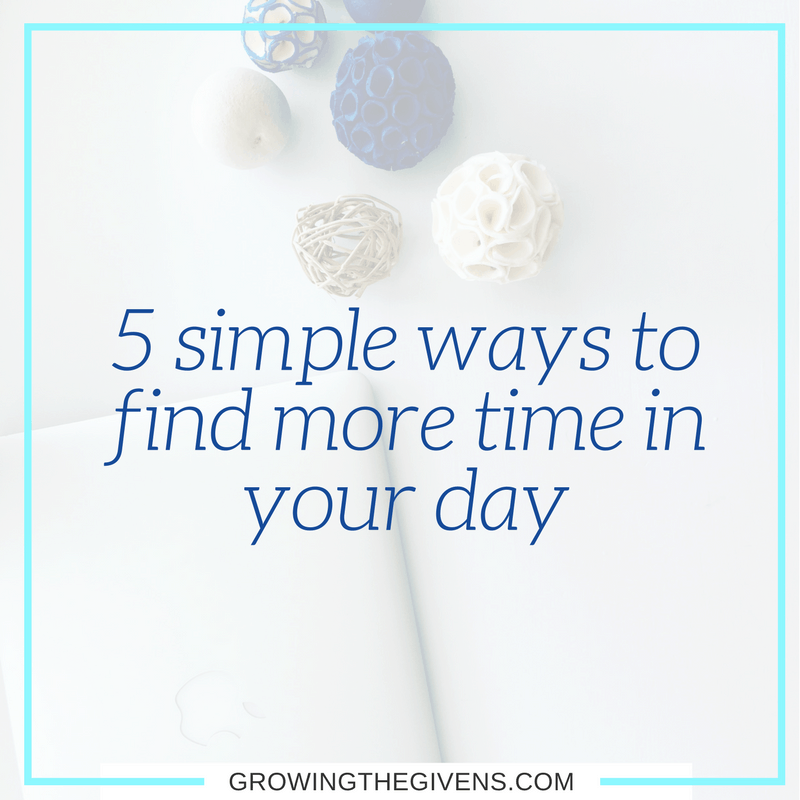 What could you do with 1 to 2 extra hours in your day? Find more time in your day by using these simple steps to make time for what matters.