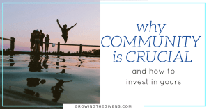 Why Community is CRUCIAL