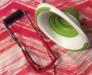 Canning tools: jar lifter tongs & funnel