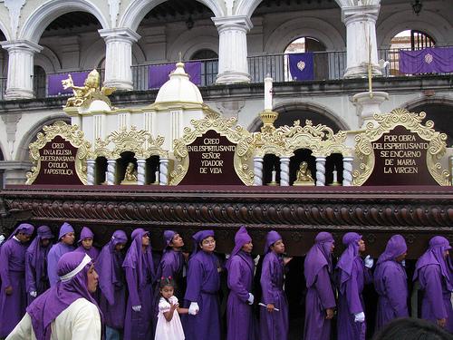 Semana Santa traditions in Guatemala.