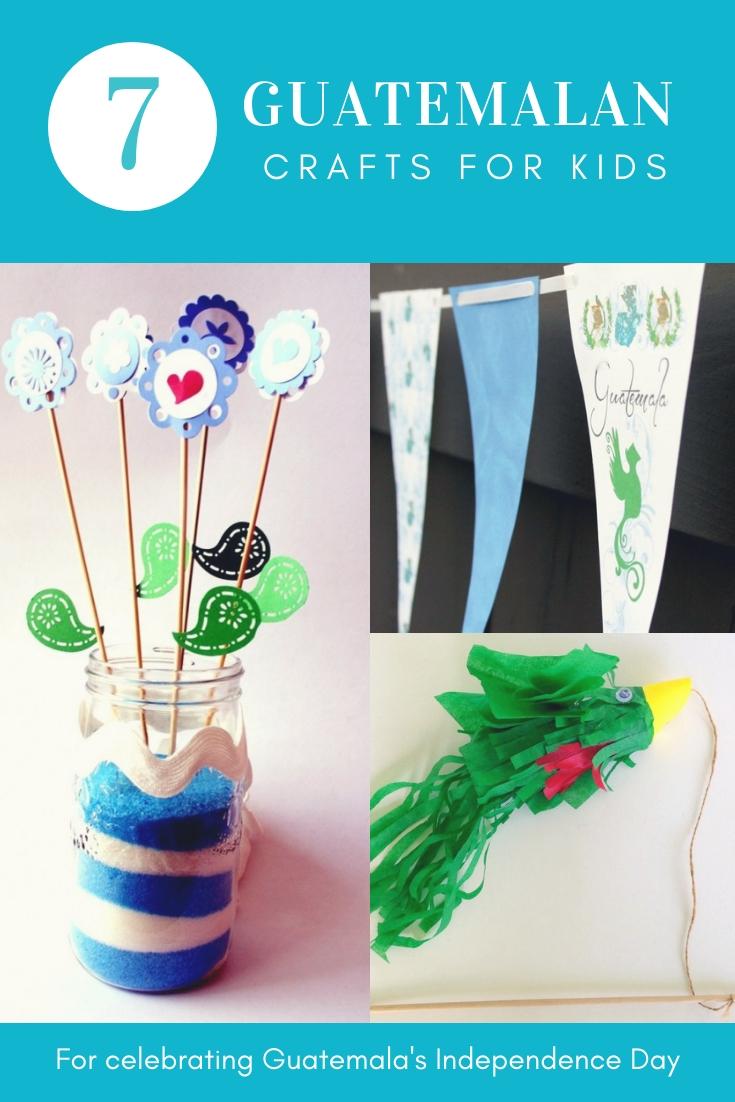 Hispanic Heritage month Guatemalan crafts for kids to celebrate Guatemalan's independence day!