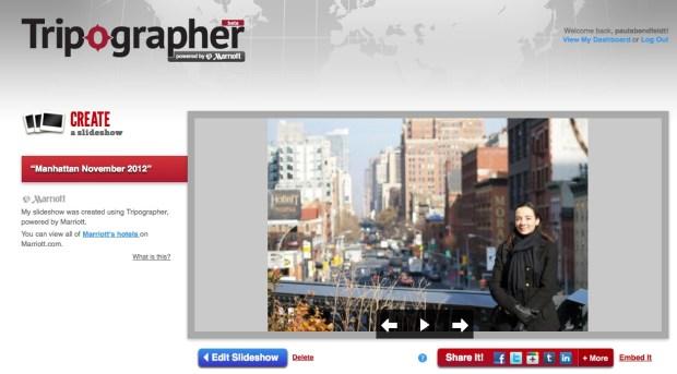 Slideshow of my trip to New York on Tripographer.