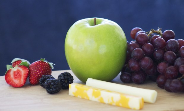 Combine Sargento cheese sticks and string cheese with fresh fruits for a sweet and fresh snack.