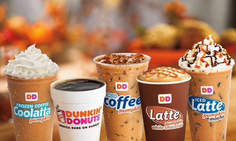 Dunkin Donuts iced coffees