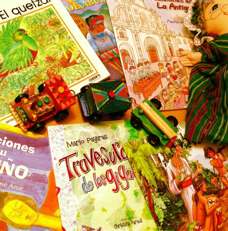 books and toys from Guatemala