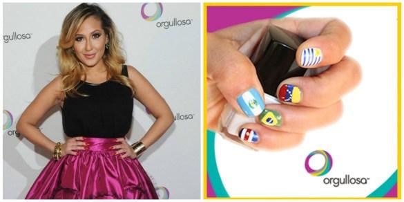 orgullosa Adrienne Bailon and nails