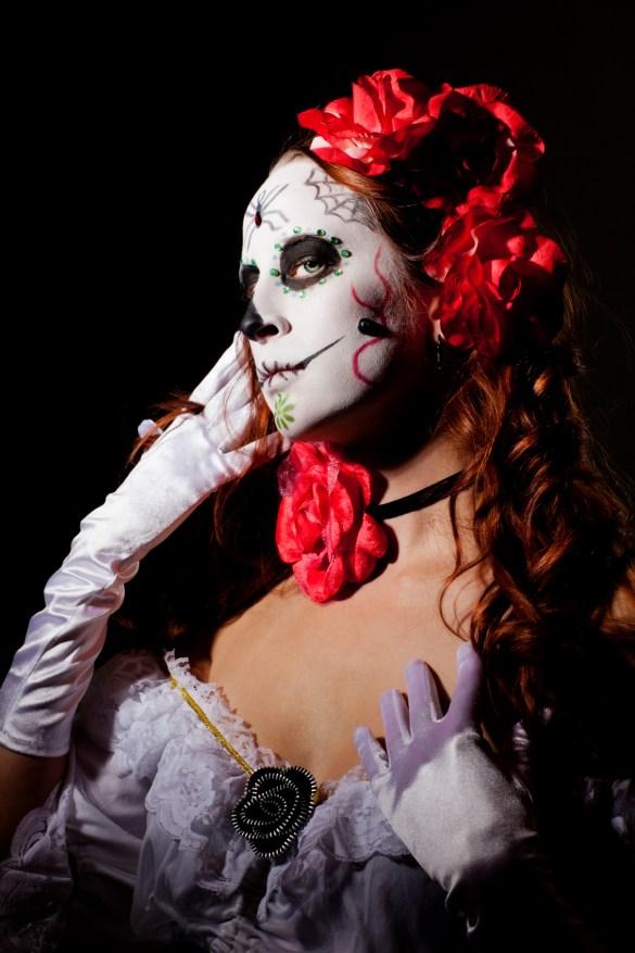 Dia de los Muetos Day of the Dead harido makeup