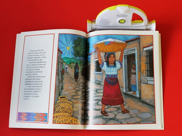 sparkup reader and book about Guatemala
