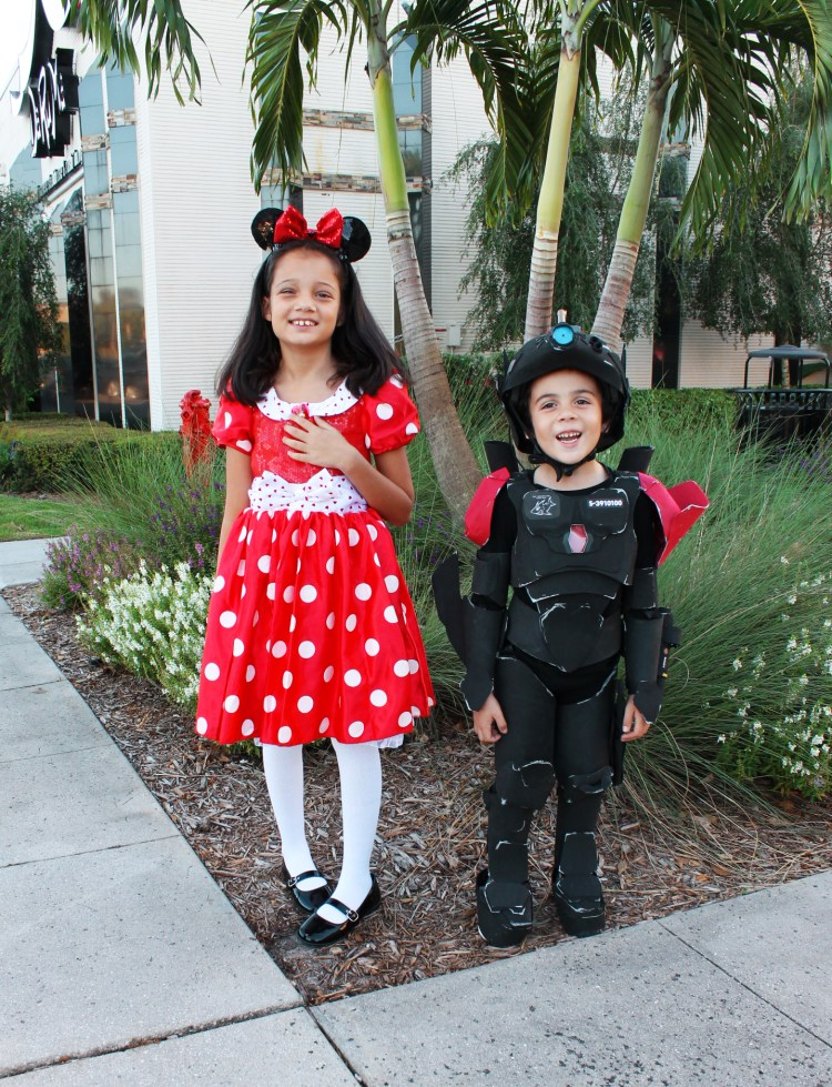 Minnie mouse and robot costume Halloween