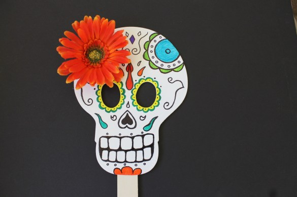 DIY Day of the Dead mask craft for kids