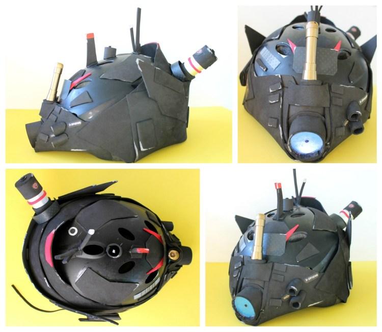 DIY robot costume helmet Japanese mech