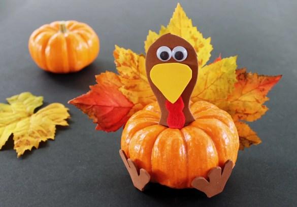 turkey pumpkin craft