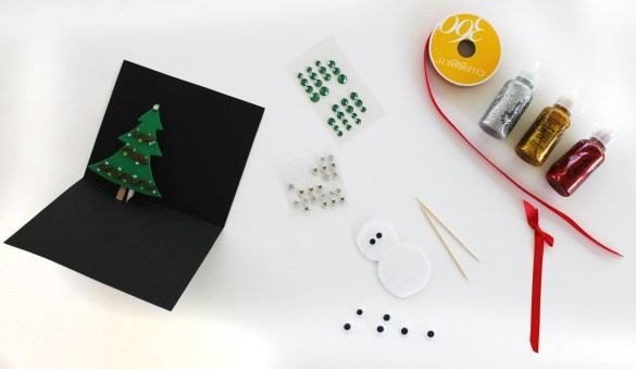 Holiday Card craft for kids