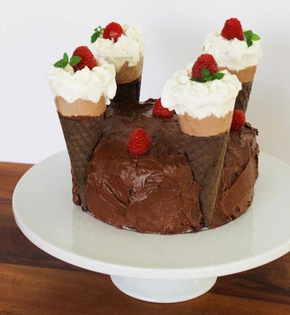 skinny cow ganache healthy chocolate cake#shop