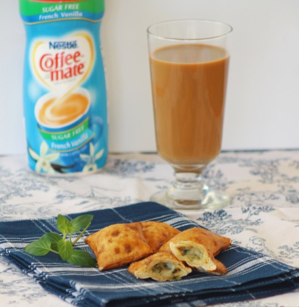 spinach filled pretzels and coffee #shop