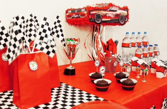 race car party printables ideas decor treat table