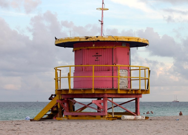 Miami Beach lifeguard towers funky