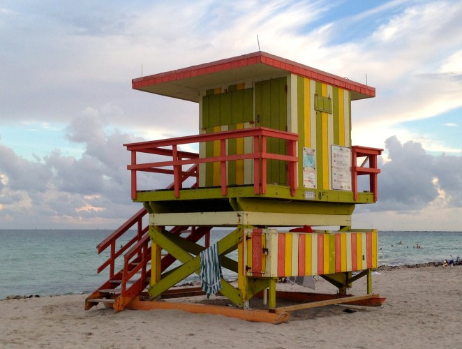 Miami Beach lifeguard towers funky colorful fun