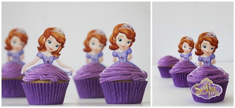 Disney Princess Sofia the First cupcakes for princess party