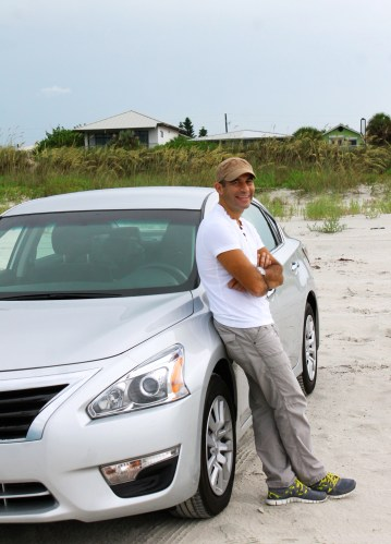 Nissan Altima at the beach