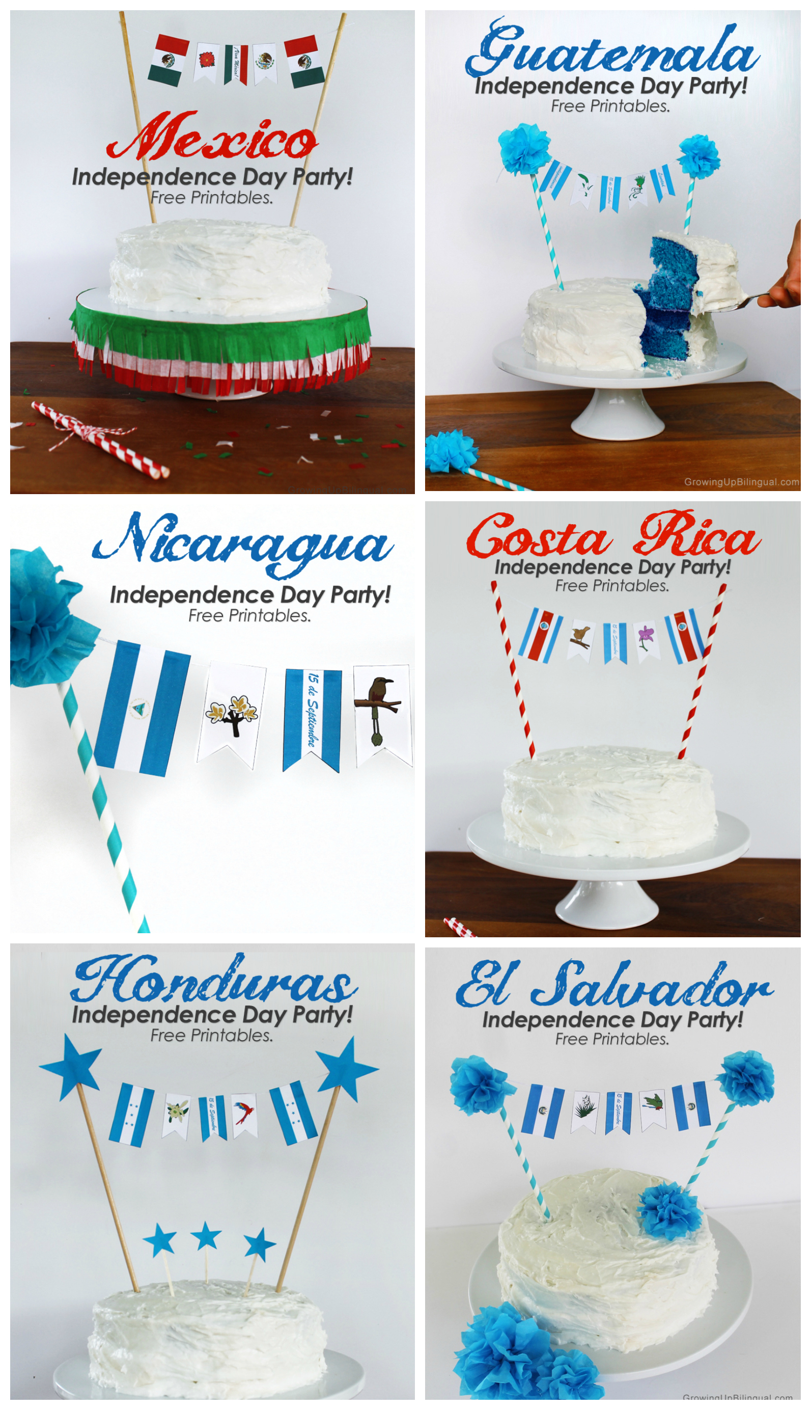 Celebrating Guatemala S Independence Free Party Printables And Cake Banner For All Central
