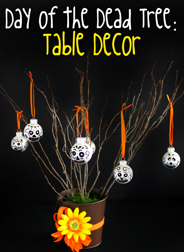 This Day of the Dead skull tree is easy to make and the perfect center piece for a Dia de los Muertos celebration.
