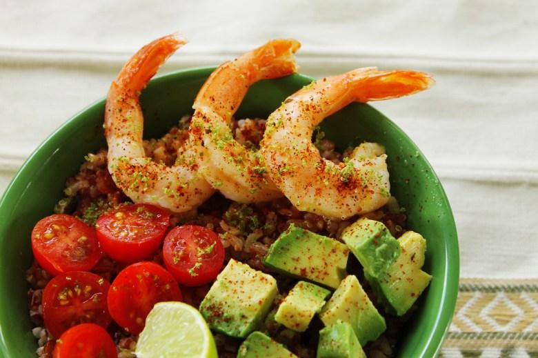 chipotle citrus shrimp rice bowl