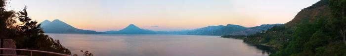 Sweeping view of lake Atitlan from el Mirador villa at Villas B'alam Ya