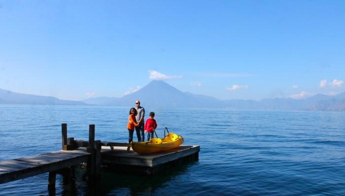 dock on lake Atitlan, Guatemala at Villas B'alam Ya