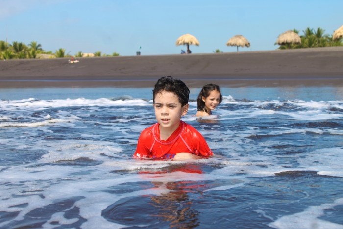 Kids in San Jose beach in Guatemala