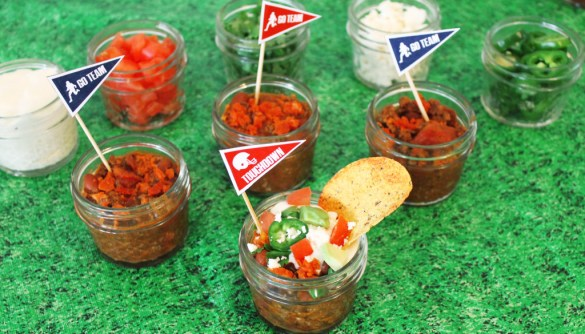 chili bar for football party