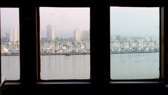 View from the Promenade Cafe on the Queen Mary