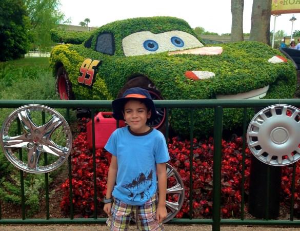Lightning McQueen topiary at Epcot's Flower & Garden Festival
