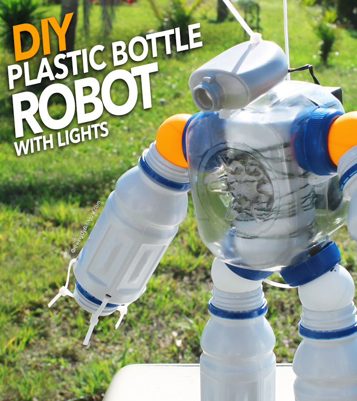 DIY Plastic Bottle Robot Night Light : Making Green ...