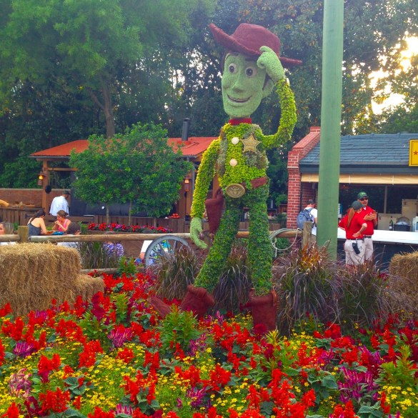 Woody Topiary at Epcot's Flower & Garden Festival