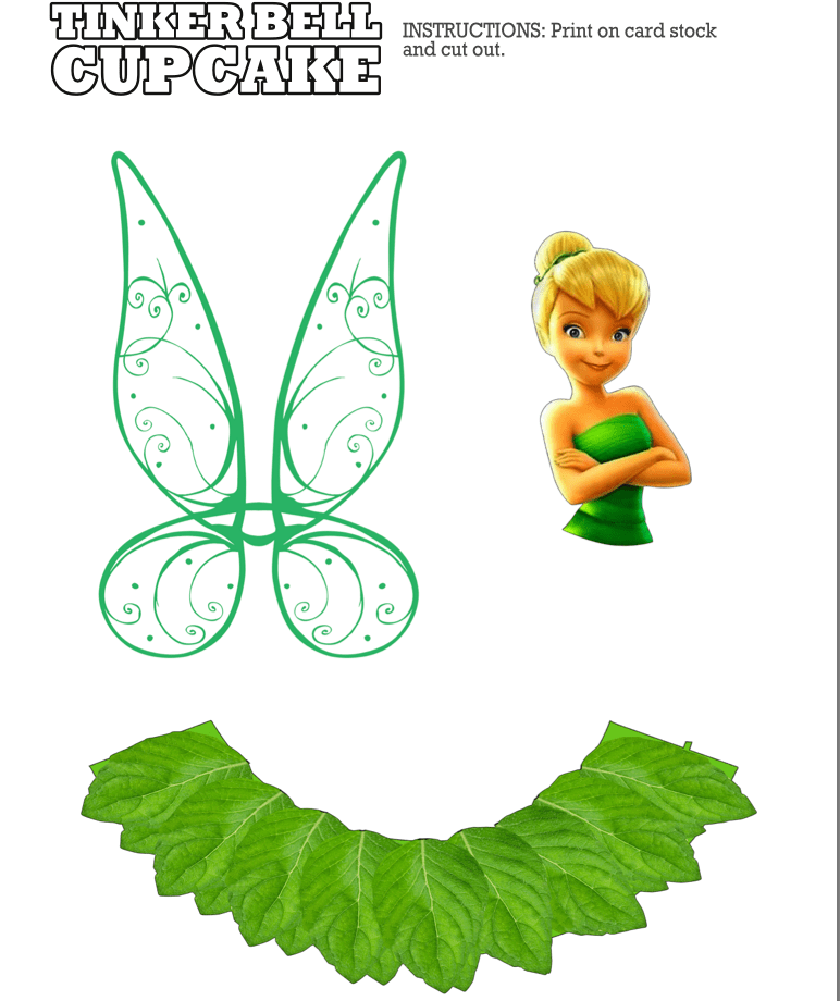 It's just a photo of Refreshing Tinker Bell Printables