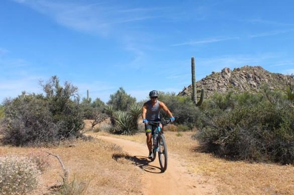 Mountain biking in Scottsdale Sonora desert