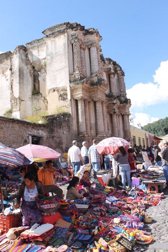 Market in Antigua Guatemala.