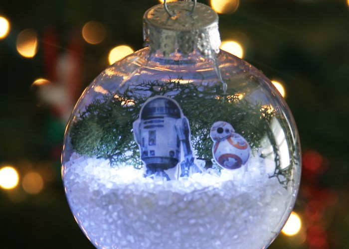 DIY Star Wars The Force Awakens Glowing Snow Globe Holiday Ornament