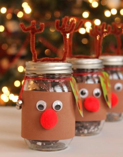 DY reindeer mason jars last minute Christmas gift