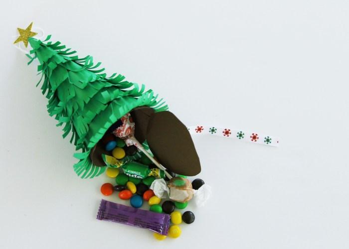 DIY Mini Piñata Christmas Tree Ornament