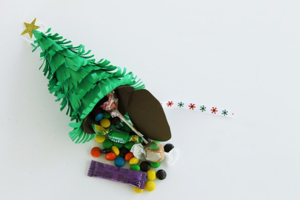 piñata christmas tree ornament
