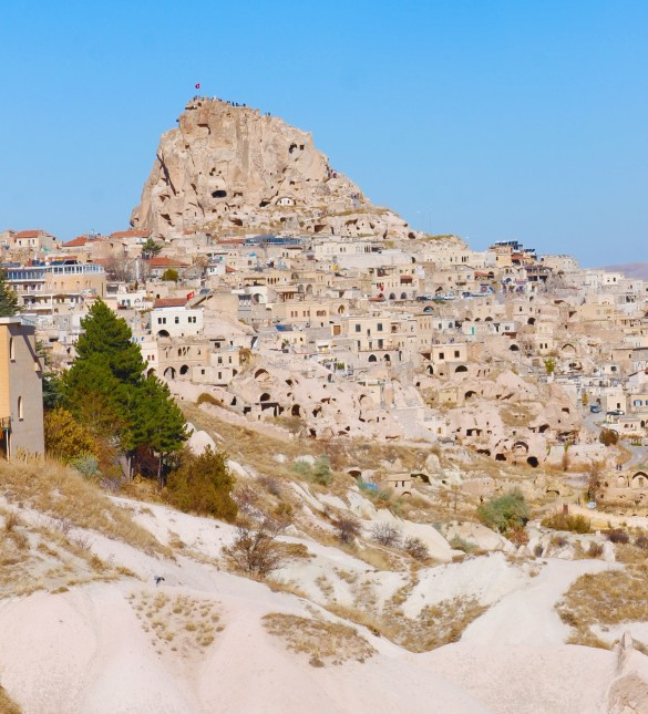 Uchistar and the uchistar castle in Cappadocia