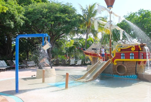 Hawks Cay kids splash area.